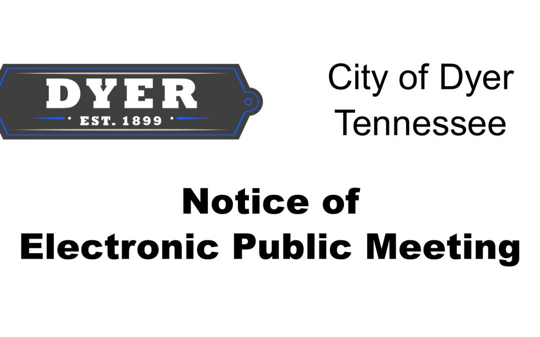 Street Committee Meeting (Electronic) – April 30, 2020, 7:00 PM
